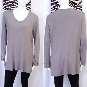 Cleo light taupe long sleeve top